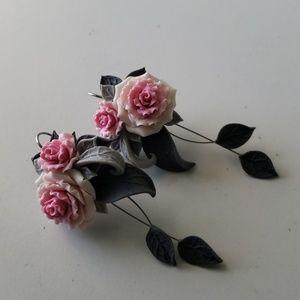 Jewelry - Handmade Rose Earrings